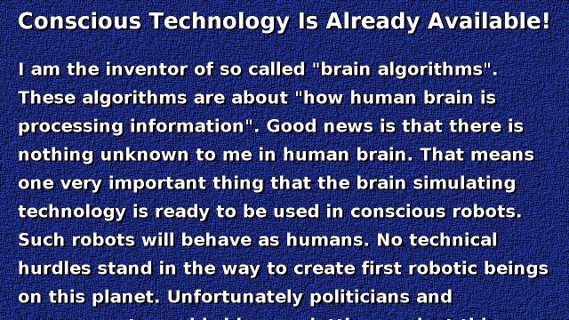 Artificial intelligence and conscious technology