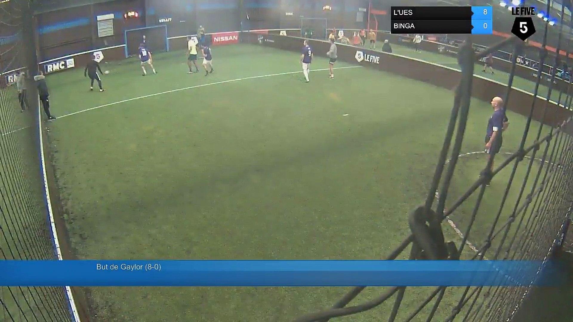 But de Gaylor (8-0) - L'UES Vs BINGA - 12/12/17 19:00 - Paris (La Chapelle) (LeFive) Soccer Par