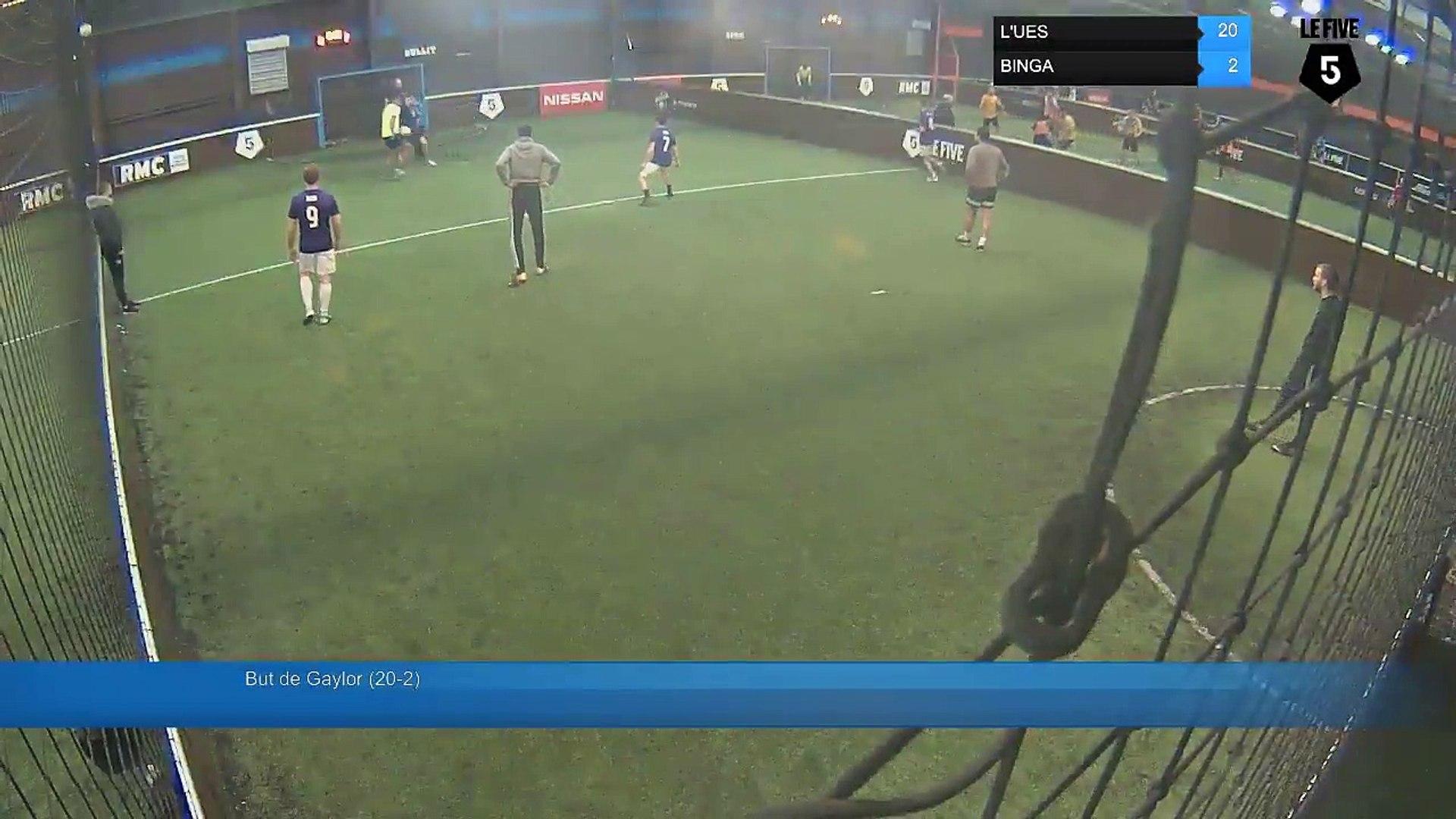 But de Gaylor (20-2) - L'UES Vs BINGA - 12/12/17 19:00 - Paris (La Chapelle) (LeFive) Soccer Pa