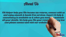Acquire Income Tax Return Filing Services from ITR Helper