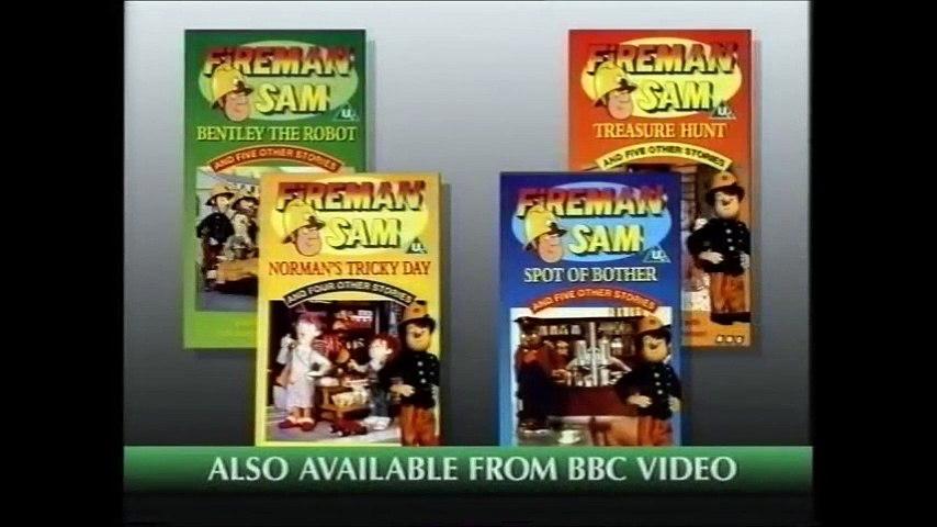Start of Fireman Sam - Bentley the Robot VHS (Monday 5th September 1994)   Godialy.com