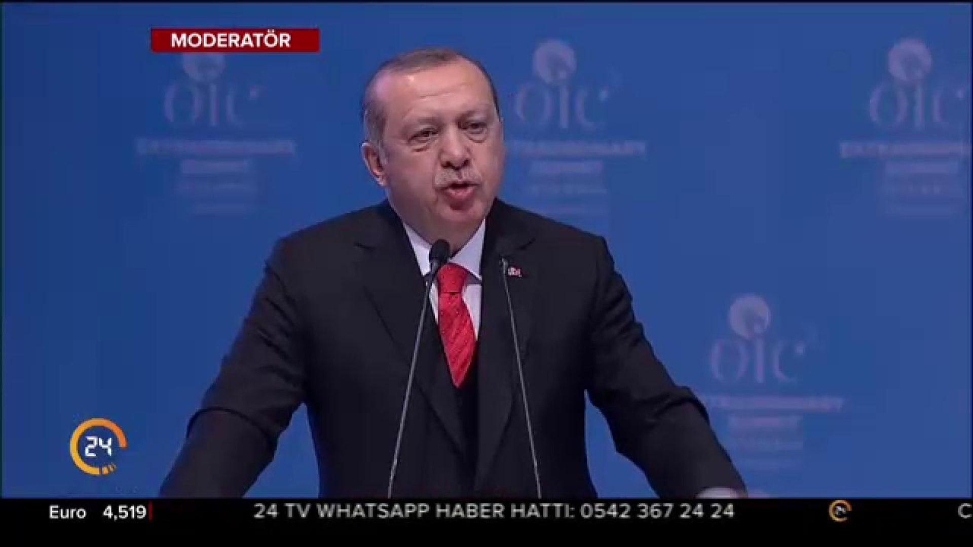 Cumhurbaşkanı Erdoğan İsrail'in zalim uygulamalarını dünyaya ifşa etti