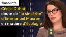 """Cécile Duflot doute de """"la sincérité"""" d'Emmanuel Macron en matière d'écologie"""