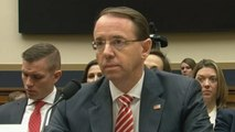 Deputy attorney general Rod Rosenstein says there is 'no good cause' to fire special counsel Robert Mueller