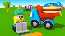 Léo le camion curieux - Max la pelleteuse et l'élévateur- l'anniversaire