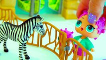 Baby Animals At Zoo - LOL Surprise Lil Sisters Fun Playmobil Toy Video-r47HklemNpI