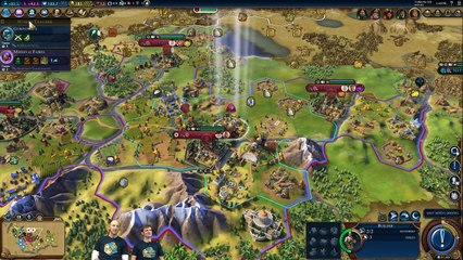 Civilization VI Rise and Fall  - FIRST GAMEPLAY FOOTAGE (Devs Play Korea)
