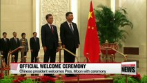 South Korean President Moon Jae-in holds bilateral summit with Chinese President Xi Jinping