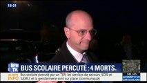 """Bus scolaire percuté : """"Tout est mis en oeuvre (...) nous pensons surtout aux familles"""" dit Jean-Michel Blanquer"""