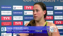 European Short Course Swimming Championships Copenhagen 2017 - Sarah KOEHLER Winner of Womens 800m Freestyle