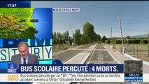 Pyrénées-Orientales: au moins quatre morts dans une collision entre un train et un bus scolaire (1/2)