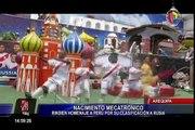 Arequipa: tradicional nacimiento mecatrónico rinde homenaje a la bicolor