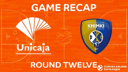 EuroLeague 2017-18 Highlights Regular Season Round 12 video: Unicaja 93-84 Khimki
