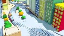 Troy le Train et le Train Canon à Neige à Car City  Dessin animés pour enfants