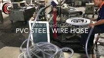 PVC steel wire reinforced suction Hose Production - SUNHOSE