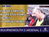Claude's Smiling But He Still Fears Spurs!! (TY Doesn't Agree)    Bournemouth 0 Arsenal 2