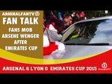 Fans Mob Arsene Wenger After Emirates Cup.