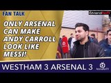 Only Arsenal Can Make Andy Carroll Look Like Messi! | West Ham 3 Arsenal 3