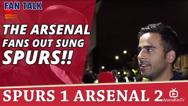 The Arsenal Fans Out Sung Spurs!! | Spurs 1 Arsenal 2