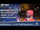 Wenger Tells TY Cech Had A Slight Injury So He Didnt Risk Him!!  | Arsenal 2 Olympiakos 3