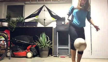 Séance de jongles avec Perrine (cat.U16F)
