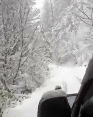 Going towards Shogran after snowfall