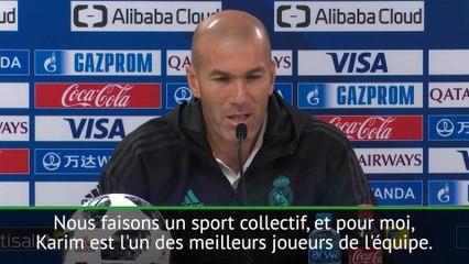 Quand Zidane révèle en conférence de presse qu'il défendra Benzema jusqu'à la mort !
