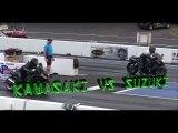 Kawasaki Vs Suzuki Hayabusa piques ,Motos deportivas, acelerar moto, carrera de motos