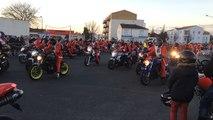 L'arrivée des pères Noël à moto à Challans