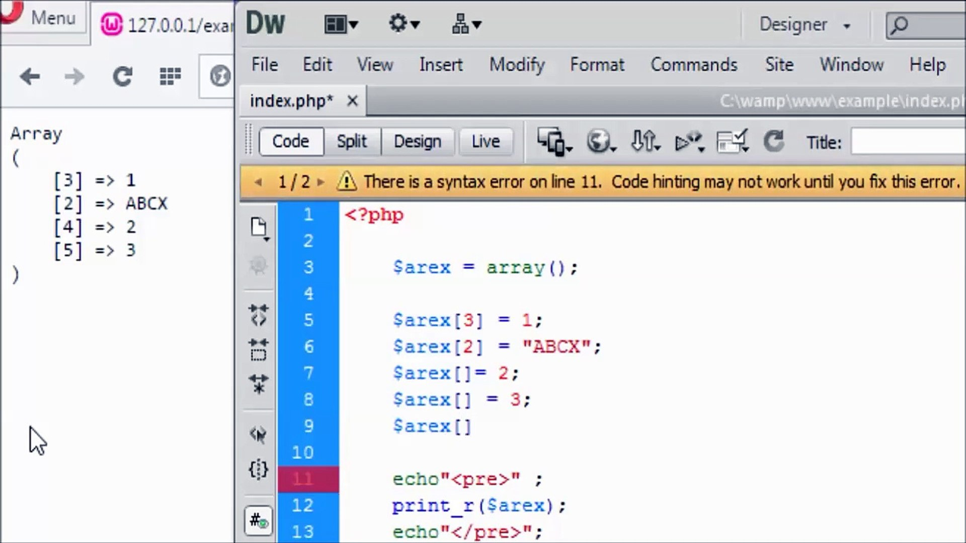 PHP MYSQL LESSON 6 ( PART 2 ) _ ARRAY IN PHP