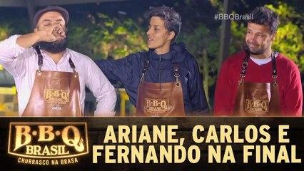 Ariane, Carlos e Fernando vão para a próxima fase