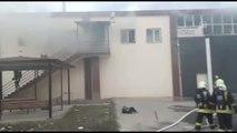 Denizli'de Üstüpü Fabrikasında Yangın