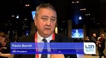 Paolo Barelli - LEN President - About European Short Course Swimming Championships Copenhagen 2017