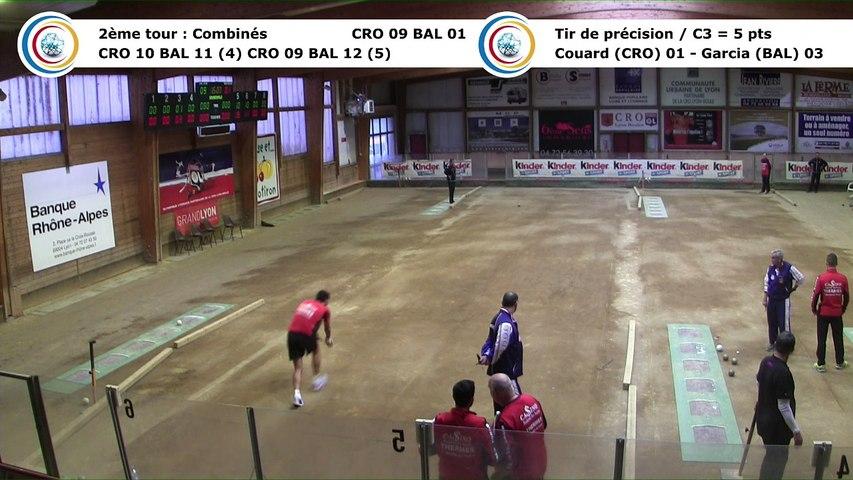 Second tour, premier tir de précision, Club Elite Masculin, J7, CRO Lyon contre Balaruc-les-Bains, décembre 2017