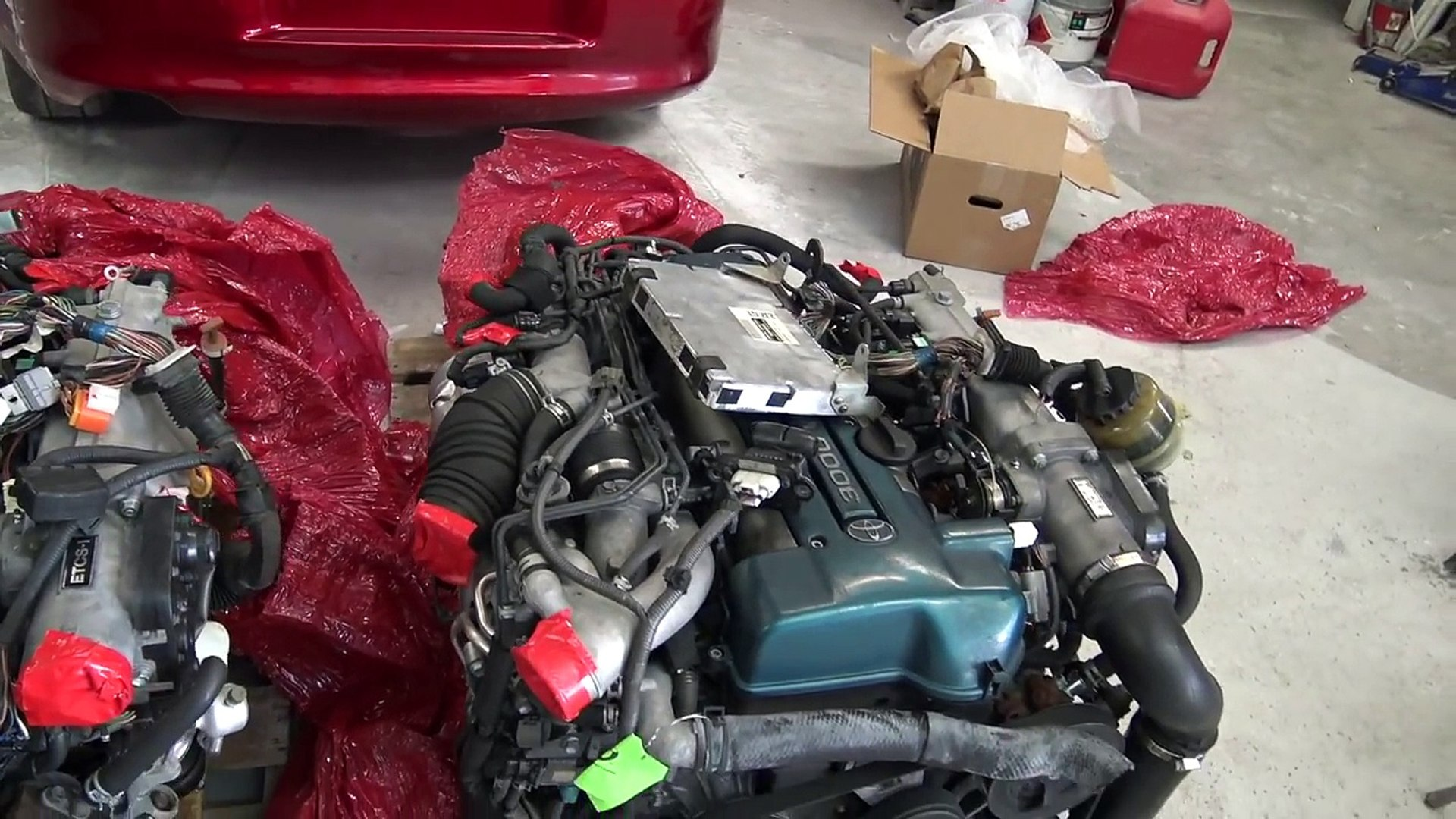 JDM 2JZGTE VVTI ENGINE FOR THE MKIV SUPRA! | + Future fabrication v band  turbo manifold!
