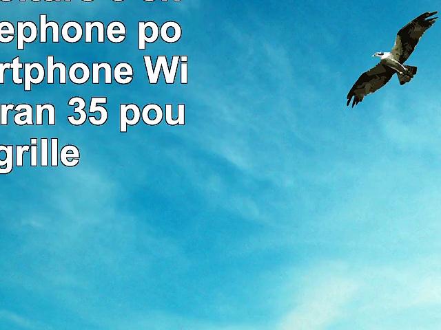 Support Voiture 3 en 1 pour téléphone portable  smartphone Wiko Cink écran 35 pouces