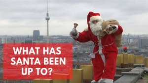 Santa Claus activity around the world