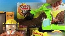 Pâte à modeler Play Doh Chomper le Bulldozer Camion Bruder Bulldozer Caterpillar Diggin Rigs