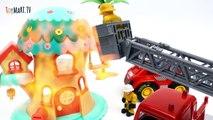 Prison Break~! Catch The Bad Guy Tonka Town Prison Fire Station Air Rescue Station-R2RfH0rtNO4