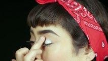 How to Do a Dramatic Cut Crease Makeup Look _ Modern Twiggy Look-FHSyDyoPv7I