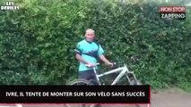 Russie : Complètement ivre, il tente de monter sur son vélo sans succès (Vidéo)