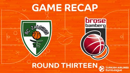EuroLeague 2017-18 Highlights Regular Season Round 13 video: Zalgiris 88-84 Bamberg