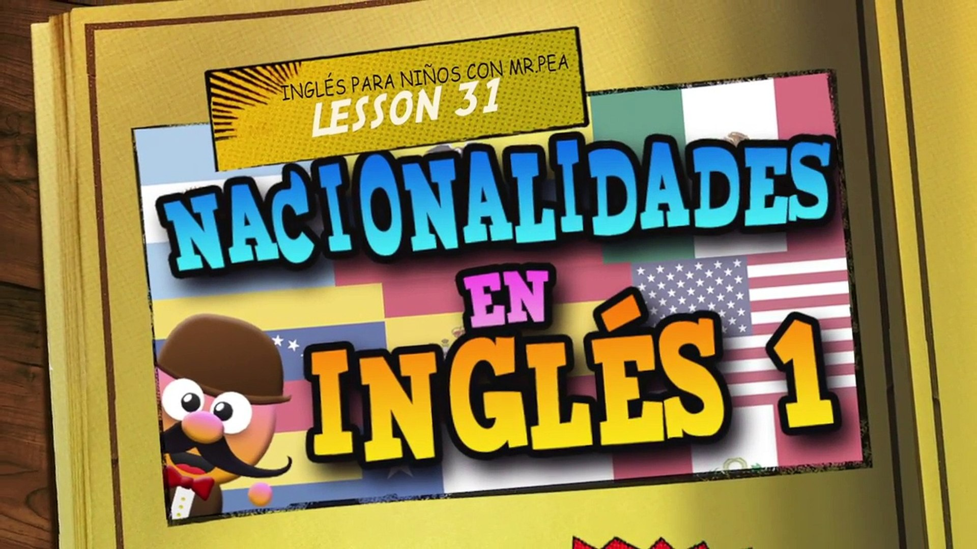 Nacionalidades En Ingles 01 Aprende Ingles Con Mr Pea English For Kids Video Dailymotion