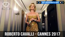Eva Herzigova in Roberto Cavalli Couture at Cannes Film Festival 2017 | FashionTV | FTV