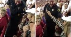 Mulher recusa-se a apagar cigarro e ainda goza com o polícia... mas rapidamente se arrepende!
