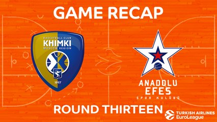 EuroLeague 2017-18 Highlights Regular Season Round 13 video: Khimki 86-68 Efes