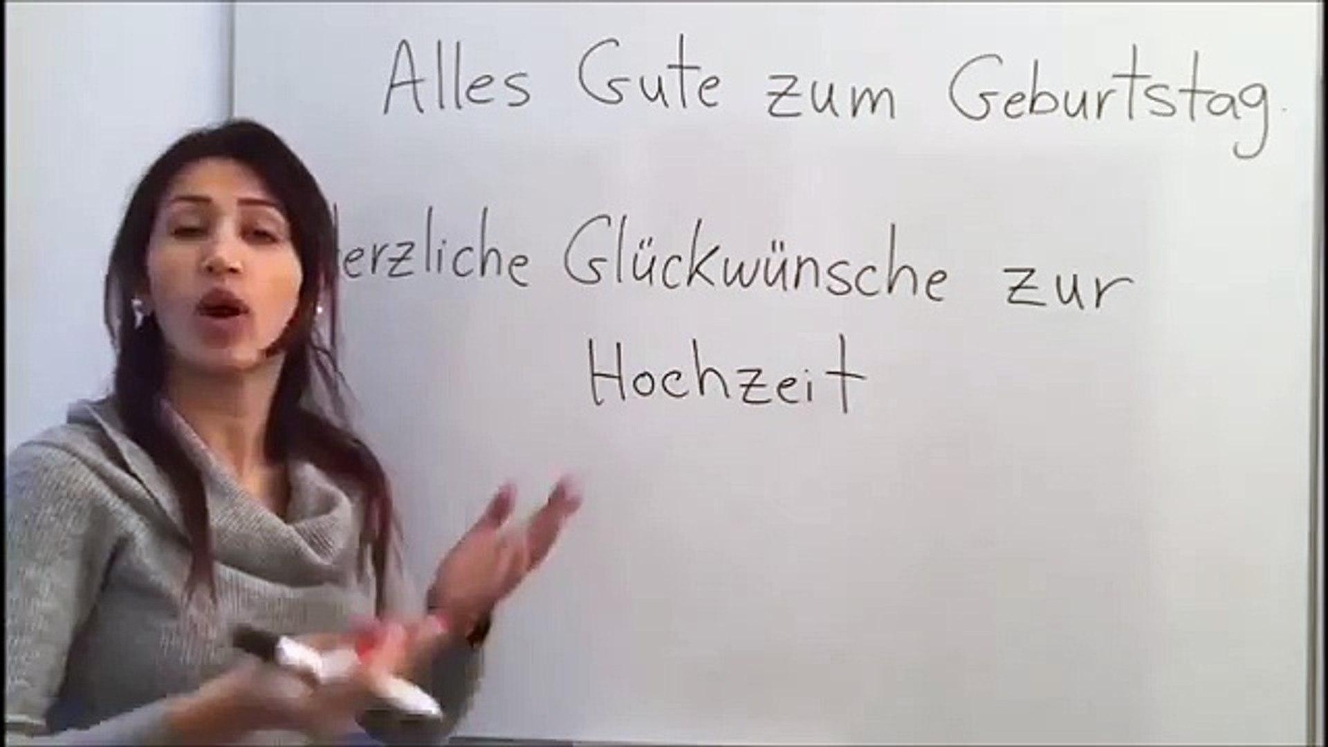 تعلم اللغة الألمانية مع دجلة 74 تهاني خاصة بكل مناسبة