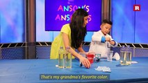 Anson Wong, boy genius, makes a liquid motion lamp | Anson's Answers