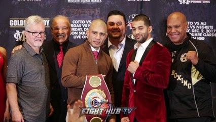 Miguel Cotto vs. Sadam Ali- The Full Final Press Conference & Face Off Video