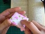 折り紙 クマのバスケット しおり 簡単な折り方(niceno1)Origami teddy bear in the basket bookmark-h0KxNRfhg_o